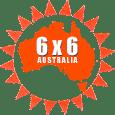 6x6 Australia logo for mobile devices